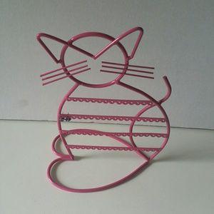 Jewelry - ARAD Cat Shaped Metal Wire Earring Holder